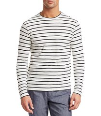 collection long sleeve striped crewneck top