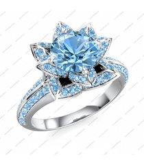 14k gold over 925 silver disney princess snow white lotus elegant wedding ring