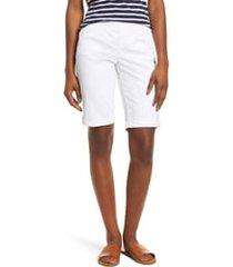 women's jag jeans gracie bermuda shorts, size 14 - white