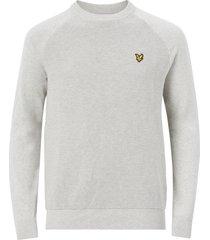 tröja raglan texture knitted jumper
