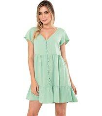 vestido amarin verde ragged pf11510986