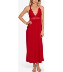 linea donatella lace-trim long nightgown