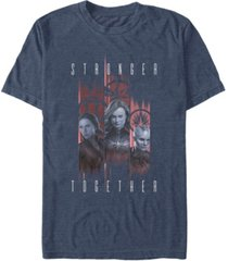 marvel men's avengers endgame stronger together panel portraits, short sleeve t-shirt