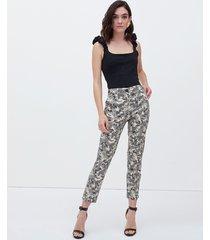 pantaloni skinny fantasia foliage
