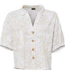camicetta in lino fantasia (bianco) - bodyflirt