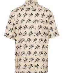 thor shirt overhemd met korte mouwen beige wood wood