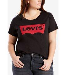 levi's trendy plus size batwing plus size graphic logo t-shirt