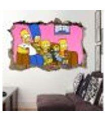 adesivo buraco na parede os simpsons - gi 100x155cm