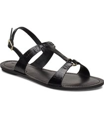 beechum sandal shoes summer shoes flat sandals svart gant