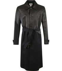 bottega veneta buttoned belted authentic coat