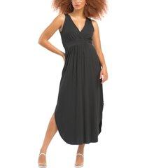 black tape petite drapey knit maxi dress