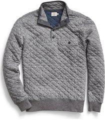 men's faherty brand epic quilted fleece pullover, size x-large r - black