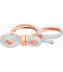 anello doppio lifelong bow, bianco, mix di placcature