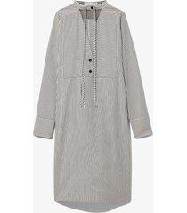 proenza schouler white label striped pajama caftan optic white/cream/black 8