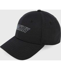 gorra negro-blanco oakley