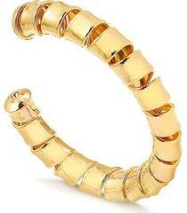 bracelete francisca joias maxi regulável folheado ouro 18k feminino
