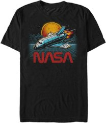 nasa men's epic space shuttle in space short sleeve t-shirt