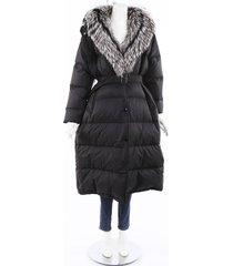 prada fox fur belted puffer coat