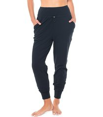 activology women's work from home tapered joggers - black - size xl