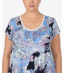 ellen tracy plus size knit pajama top, online only