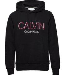 calvin shadow logo hoodie hoodie trui zwart calvin klein