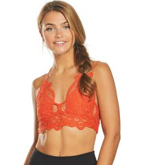 free people women's adella bralette - burnt orange - x-small cotton