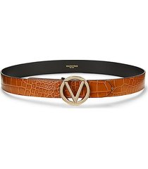 giusy croc-embossed leather belt