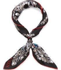 'bandana treasure' twill silk scarf