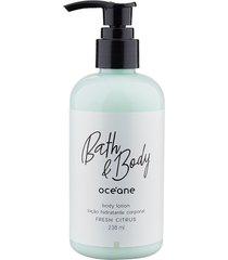 loção hidratante corporal body lotion fresh citrus bath & body 236ml - océane único