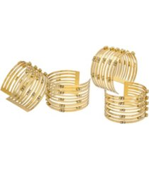 godinger bracelet napkin rings - set of 4