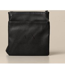 armani exchange shoulder bag armani exchange bag in synthetic textured leather