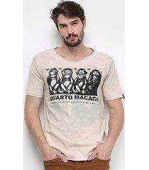 camiseta bossa brasil macacos masculina