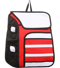 mochila solapa huri no machi rojo-blanco fight for your right