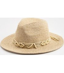 kelly crochet band panama hat - natural