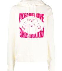 sandro paris please love hoodie - neutrals
