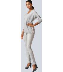 byxor, skinn framtill och jerseybaktill alba moda ljusgrå