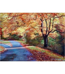"david lloyd glover a fork in the road canvas art - 37"" x 49"""