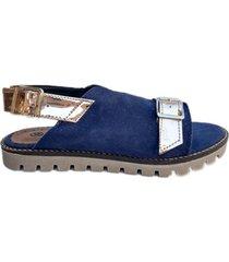 sandalia azul omm emily