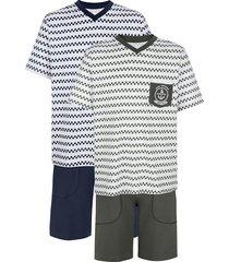 pyjamas babista vit::marinblå::khaki