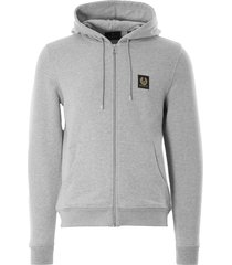 belstaff zip hoodie | grey melange | 71130632-90015