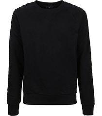 balmain embossed sweatshirt