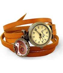 skórzany zegarek orientalne nerkowce - 0649