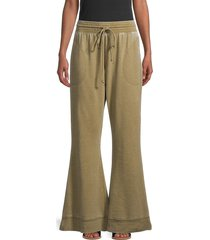 intimately free people women's flared lounge pants - olive army - size xl