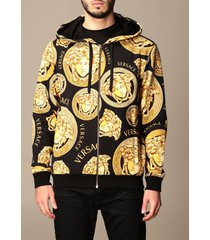 versace jacket versace cotton hoodie with medusa head