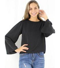 blusa antonia negra jacinta tienda