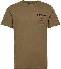 barbour reed tee t-shirts short-sleeved brun barbour