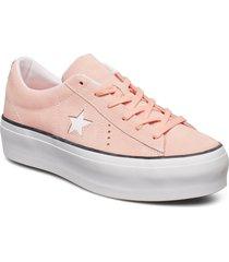 star platform ox låga sneakers rosa converse