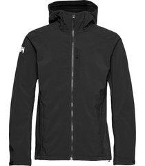paramount hooded softshell jac outerwear sport jackets svart helly hansen