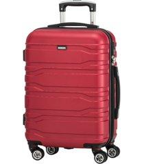 "mancini san marino collection 20"" lightweight carry-on spinner luggage bag"