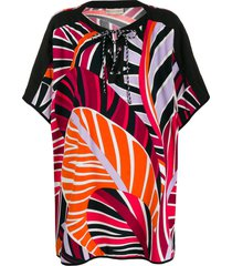 emilio pucci graphic-print beach cover-up - pink